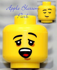 NEW Lego City Boy/Girl/Baby MINIFIG HEAD -Yellow w/Child Yawn Sleeping Kid Smile