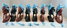 """TSSD24B """"American Cavalry Soldiers w/ Horses (BLUE)"""" 54mm Plastic Toy Soldiers"""