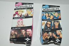 Splat Washables Color for a Day Electric Blue/Hot 4 Pink Hair Color Lot of 2 New