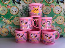 Pokemon 6 Cup set lot Plastic Party Cup Mug Figure Pocket Monster Doll   (plush)