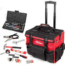 Heavy Duty Mechanical Garage Repair Mix Tools Kit Set with Trolley Bag 174-Piece