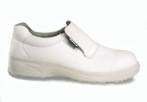 Nerone White Safety Shoe by Cofra Steel Toe Cap SRC, Size 3-12