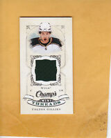 COLTON GILLIES 2008 09 UPPER DECK CHAMPS MINI THREADS # CT-CG MINNESOTA WILD