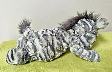 Jellycat Bashful Zebra Gray White Medium Soft Beautiful Lovable Plush Toy 12""