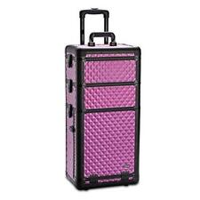 Professional Makeup Artist 3 in 1 Rolling Makeup Train Case Cosmetic Organizer w