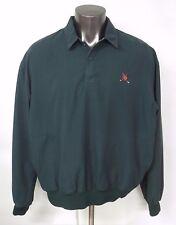 POLO GOLF RALPH LAUREN Green Jacket XL Polyester Pockets Button Front Lined
