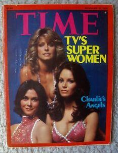CHARLIE'S ANGELS Kate Jackson FARRAH FAWCETT Jaclyn Smith TIME Magazine 1976