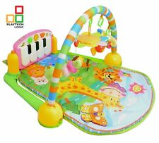 Baby Gym Playmat 4-in-1  Musical Activity Play Mat Toys Kick Play Toy Piano Gym