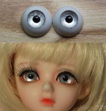 14mm Hand Made BJD Doll Eyes Silver Acrylic Half Ball
