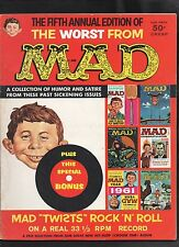 WORST FROM MAD #5 G/G+  (CONTAINS ATTACHED RECORD) 1958 EC