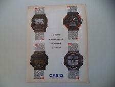 advertising Pubblicità 1989 CASIO BM-100 W/DGW-30 DIGI GRAPH/ARW-320/CGW-50