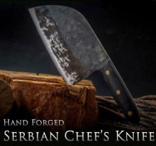 Hunters Serbian Chef Knife Steel Kitchen Handmade Knives Forged High-carbon Clad