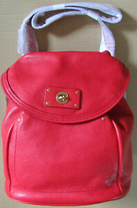 Marc Jacobs Backpack Leather Totally Turnlock Colors NEW $428