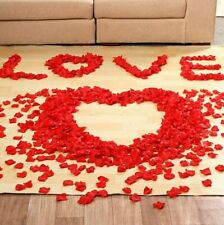 100PCS RED SILK ROSE PETALS FLOWER CONFETTI WEDDING ENGAGEMENT DECORATION G0A T