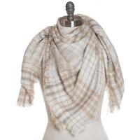 New Collection XIIX Plaid Runway Square Wrap Scarf Shawl NWT $38 Tags