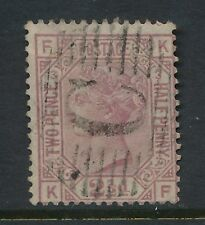 GB QV 1876 ROSY MAUVE 2 1/2d Plate 3 ORB WATERMARK USED in TURKEY CONSTANTINOPLE
