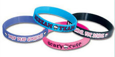 MONSTER HIGH MH RUBBER BRACELETS 4 COUNT SEALED! NEW! FREE SHIP! MONSTER HIGH!