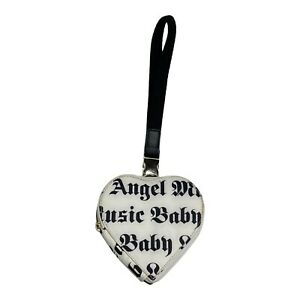 Gwen Stefani Le Sportsac LAMB Wristlet Heart Clutch White Small Nylon Coin Purse