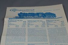Y496 Roco train Ho Notice papier DB öBB SNCF steam locomotive vapeur BR 58