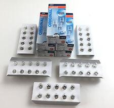 50 x Osram Lamp 12V 5W w2.1 x 9.5D All Glass Bulb W5W 2825 ECE R37 E1