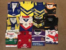 12 Rugby shirts bundle job lot Warrington wolves Wigan Warrior St Helens Etc