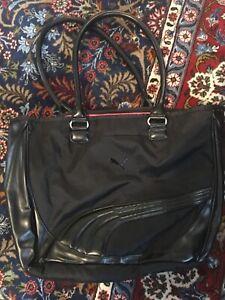 Brand NEW Puma tote bag carryall zip top black
