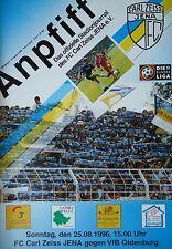 Programm 1996/97 FC Carl Zeiss Jena - VfB Oldenburg