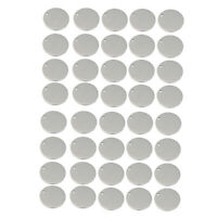 40x Stainless Steel Flat Round Circle Blank Coin Charm Pendant Jewelry 15mm