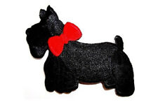 Scottie - Terrier - Dog - Pet - Fully embroidered Iron On Applique Patch - L