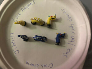 3D 2 Dragons Lot Of 6 Crocs Shoe,Bracelet,Lace Adapter Charms,Jibbitz Read