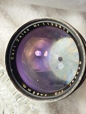 Carl Zeiss Sonnar 85mm f2.0 Lens.