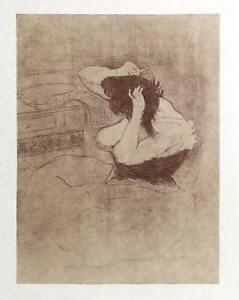 Henri de Toulouse-Lautrec, Femme Qui Se Peigne-La Coiffure, Lithograph on Japon