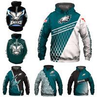 Philadelphia Eagles Football Hoodie Men's Sweatshirt Pullover Hooded Jacket Coat