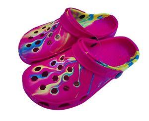 Women's Unisex Tye Tie Dye Clogs Comfort Garden Nurse Water Shoes 6-12