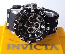 Invicta Pro Diver Black Rubber Stainless Steel Chronograph 23696 50mm Mens Watch