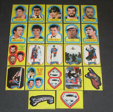 Superman II (2) - Complete Sticker Trading Card Set (22) - 1981 Topps - NM