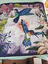 Hummingbird Throw Blanket Quilt Style 54×60