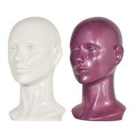 Female Mannequin PVC Manikin Head Model Wig Glasses Hat Display Stand Holder