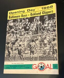 Vintage 1968 Baltimore Bays Opening Day Soccer Program vs. Oakland Clippers
