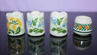 4 Vintage Miniature CandleHolders ~ Funny Design ~ W. Germany ~ Flowers