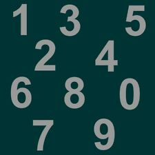 "4 cm "" Set 0 bis 9 "" Silber matt SA-81 Zahlen Aufkleber Klebezahlen Ziffern"