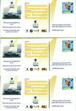 GERMANY 3 lottery postal stationery  ** die basketball