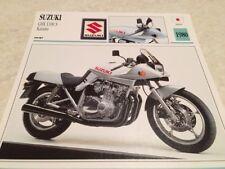 Fiche moto collection Atlas motorbike Suzuki GSX1100 S Katana GSX 1100 1980