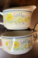 "Vintage Temperware by Lenox Sugar Bowl and Creamer SET in ""Summer Spice"" Pattern"