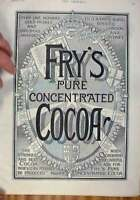 Original Old Antique Print Fry'S Cocoa Advert 1896 Over 100 GMedals Victorian