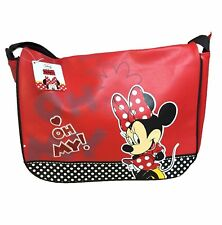 Official Disney Minnie Mouse Faux Leather Red Messenger Shoulder Bag - NEW
