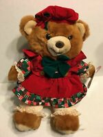 "A Teddy Bear Lane Christmas Bear 1994 NEW 18"" Plush Stuffed Animal"