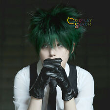 30CM Short Dark Green AnimeMy Hero Academy Izuku Midoriya Basic Men Cosplay Wig
