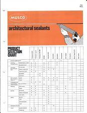 Building Materials Brochure - Mulco - Architectural Sealant - c1977 (AF80)