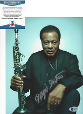 WAYNE SHORTER SIGNED AUTHENTIC 8X10 PHOTO SAXOPHONE JAZZ LEGEND BECKETT BAS COA